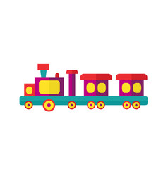 Steam kids train from amusement park vector