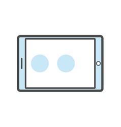 Tablet pc isolated linear icon vector
