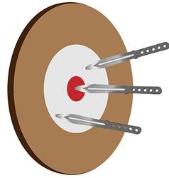 Target knife vector image