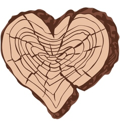 Timber heart vector image
