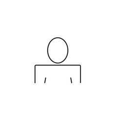 user sign icon person symbol human avatar vector image