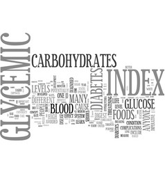 what is glycemic glycemic index text word cloud vector image