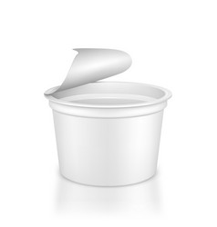 White blank plastic container for sour cream vector