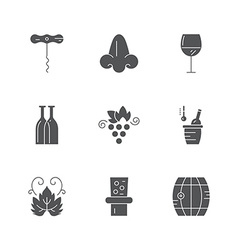 wine icon collection vector image