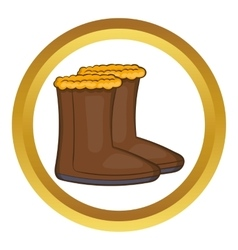 Winter shoes icon vector