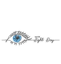 Worlad sight day minimalist web banner background vector