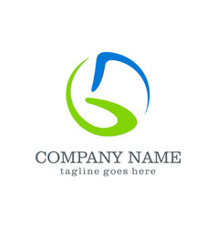 abstract letter g company logo vector image vector image