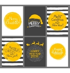 Christmas gift tags and cards with calligraphy vector image vector image
