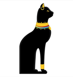 Egyptian cat vector image vector image