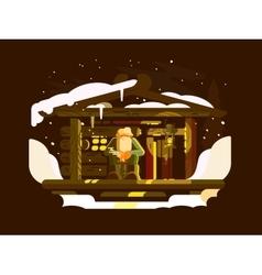 Elderly man forester vector image vector image