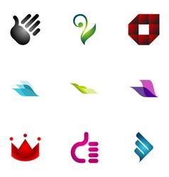 logo design elements set 39 vector image vector image