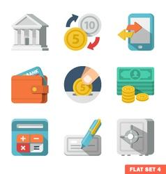 Money Flat icon set vector image vector image