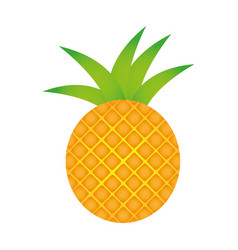 pineapple fruit icon stock vector image