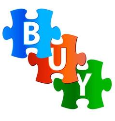 Three buy labels vector image