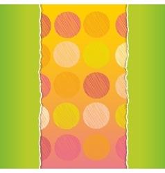 Vintage card design Polka dot background scribble vector image