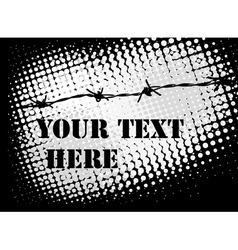 barb wire background vector image