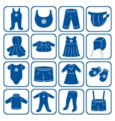child clothes set vector image vector image