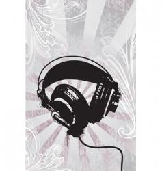 funky headphones vector image vector image