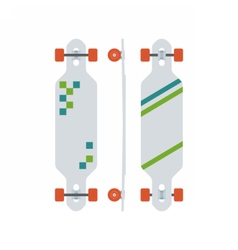 Modern Longboard Desk Set vector image