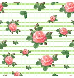 Pattern with roses vector image vector image