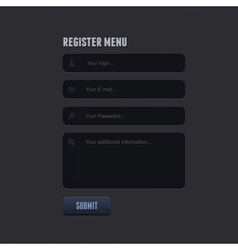 register form for your website vector image