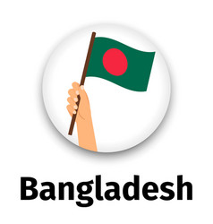 bangladesh flag in hand round icon vector image vector image