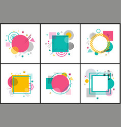 collection of abstract posters vector image