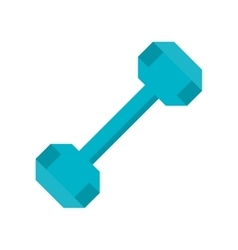 dumbbell weight fitness gym icon vector image