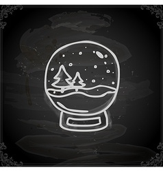 Hand drawn snow globe vector