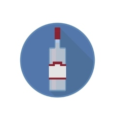 icon of alcohol bottle with the pure vector image