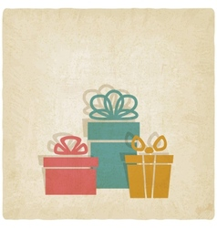 old background with presents vector image vector image