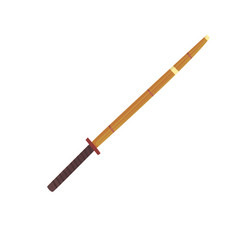 shinai bamboo sword kendo equipment cartoon vector image vector image