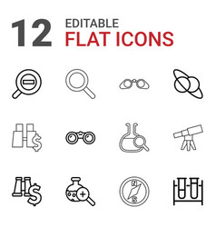 12 discovery icons vector image