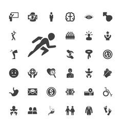 33 human icons vector