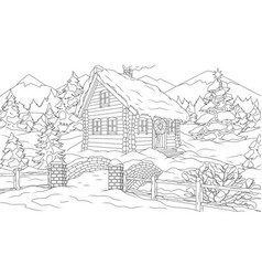 a house in forest for the vector image