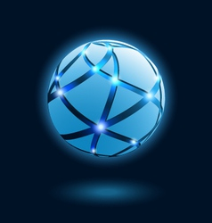Abstract globe icon vector