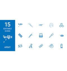 Army icons vector