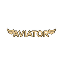 Aviator text with angel bird wing vector