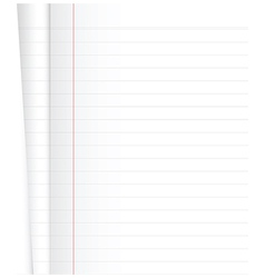 Blank Notebook vector image vector image