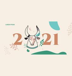 boho in year bull vector image