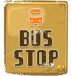 Bus stop background vector