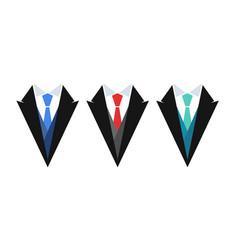 business logo suit with tie set emblems vector image