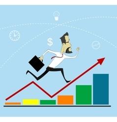 Businessman Arrow Up vector image