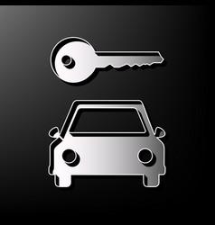 Car key simplistic sign gray 3d printed vector
