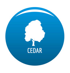 Cedar tree icon blue vector