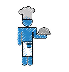 chef avatar silhouette icon vector image