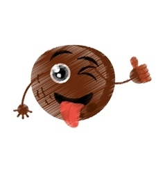 Coconut expressions silly face vector