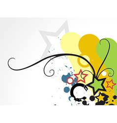 Colorful star design vector image