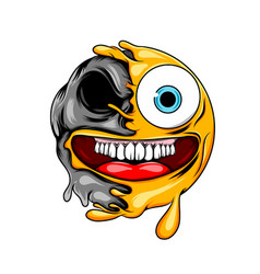 crazy expression with big mouth to the vector image