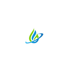 droplet water bio technology logo vector image